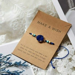 Blue Wish Bracelet, Make A Wish Bracelet